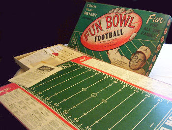 1962 Bear Bryant Fun Bowl Board Game