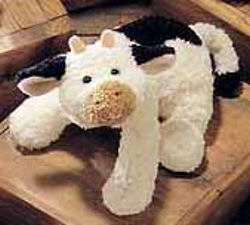 Gund Belle Cow 60012 Terry Like Black Cream Plush 12 Inches