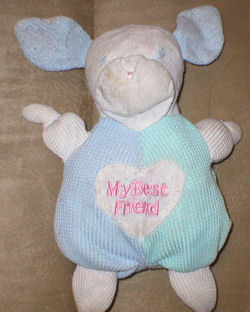 ", FOUND – Carter's MY BEST FRIEND Thermal Blue & Green ""RABBIT"" DOG"
