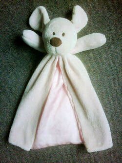 Blankets and Beyond Pink Puppy Gown Style Blankie