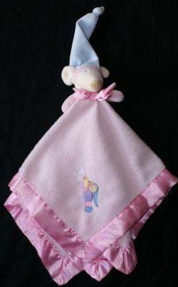 Blankets and Beyond Pink Mouse Wearing a Hat Blankie