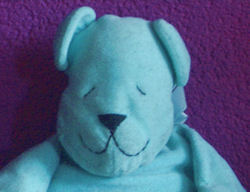 , FOUND – 90's BLUE BABY BEAR from AUSTRALIA