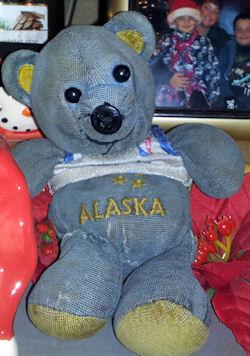 Alaska Blue Souvenir Bear