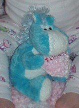 Blue Pony I Love You Heart