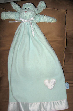 Baby Boyd's Gown Shaped Puppynap Mint Green Dog Blankie