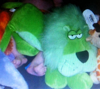 Bestever Bright Green Floppy Lying Down Lion