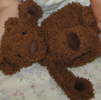 Brown Chenille Bear with Dark Brown Velour Paws