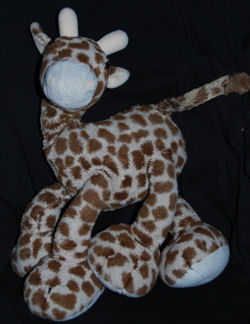 Large Kelly Toy Cream & Brown Giraffe with Big Feet