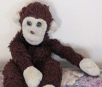 , Searching – 80's? 90's? FLOPPY BROWN MONKEY with CREAM FACE & PAWS (No Tail)