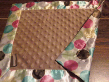 , Searching – Blankets and Beyond BROWN MINKY DOTS BLANKIE