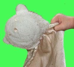 Cach Cach Cream Lamb Blankie