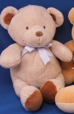 , FOUND – Carter's LIGHT BROWN BEAR Darker Ears & Feet GINGHAM BOW