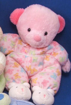 Carter's Baby Small Pink Bear Wearing Butterfly Print Sleeper & Bear Slippers