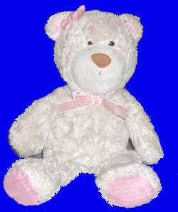 Carter's Tan Bear with a Pink Flower by the Ear