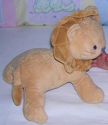 Small Wonder Beige Lion with Blue Embroidered Face