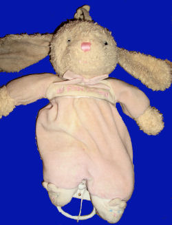 , FOUND – CARTER'S My First Friend CREAM RABBIT with PINK SLEEPER Musical Crib Pull Bunny