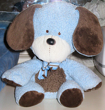 Carter's Blue Dog with Brown Tummy, Paws, Ears, Tail