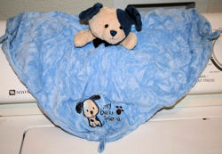 Carter's My Best Friend Puppy Rattle/Blankie with knotted corners