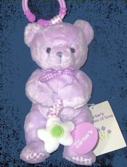, FOUND – Carter's BUNCHES of LOVE Vibrating LAVENDER BEAR