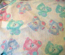 , FOUND – CARTER'S PASTEL BEARS White BABY BLANKET