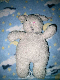 Carter's White Rabbit Crib Musical Pull Down Plush Toy