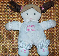 Carter's Child of Mine Doll with Loose Brown Pigtails