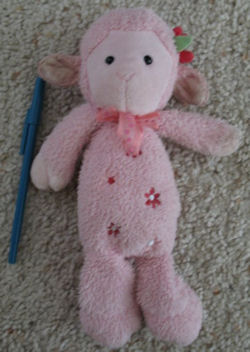 Carter's Pink Lamb with Flowers