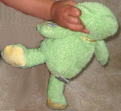 Carter's Just One Year Chenille Giggles Green Frog