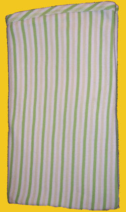 Carter's Thermal White, Light Green, Bright Green Stripe Blanket