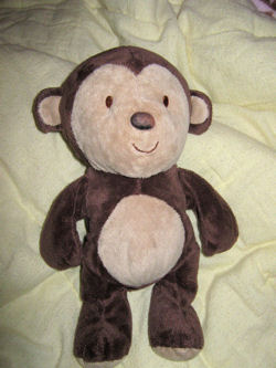 , FOUND – 2008 Carter's Just One Year BROWN MONKEY with CREAM FACE & TUMMY