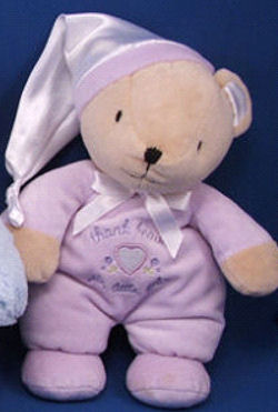 Carter's Lavender Thank Heaven for Little Girls Bear