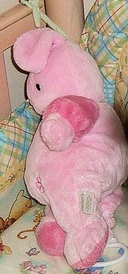 Carter's? Light and Dark Pink Crib Pull Musical Rabbit