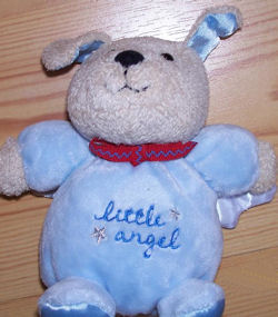 Carter's Little Angel Blue Dog Rattle