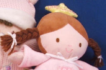 Carter's Brunette Pigtail Little Princess Doll - Lights, Rock a Bye Baby