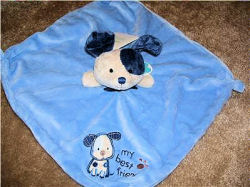 Carter's My Best Friend Blue Dog Blankie