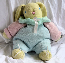 , Searching – Carter's? PASTEL MULTI-COLORED RABBIT with RATTLE