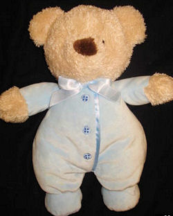 Carter's Brown Bear Wearing a Pink Sleeper with 3 Fake Buttons