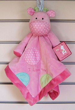 RECALL 2009 Rashti & Rashti Carter's Just One Year Pink I Love You Giraffe Blankie
