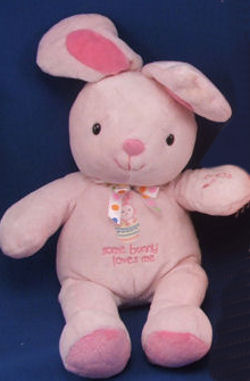 Carter's  No. 98260 Some Body Loves Me Pink Velour Rabbit