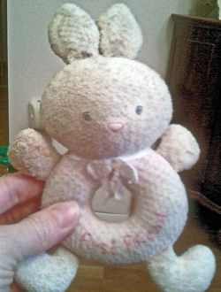 , FOUND – 2006 Carter's PRESTIGE Pink MY FIRST FRIEND Donut Hole RABBIT