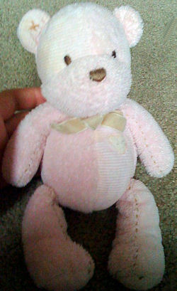 Carter's Pink Bear with Tan Heart and Bow