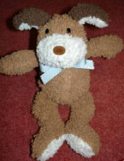 Brown and White Terry Beanie Dog
