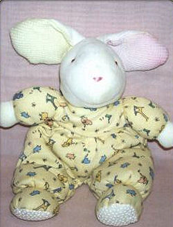 Carter's White Rabbit wearing Yellow Sleeper with Flowers
