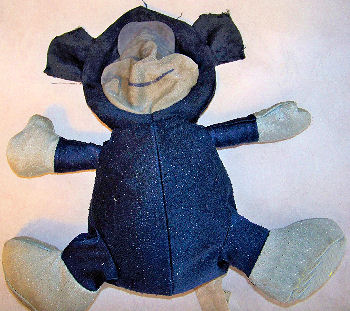 Carter's Blue Monkey with Cream Face, Tummy, Hands & Feet