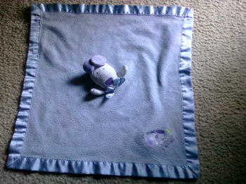 2003 Carter's Woof Blue Dog Blankie