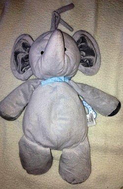 Carter's Gray Just One You Elephant Crib Pull Brahms