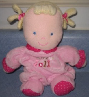 Carter's Just One Year Blond Cloth Pigtails My First Doll