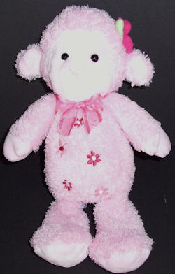 Carter's Pink Lamb with Flower on Ear & Pink Flowers on Tummy