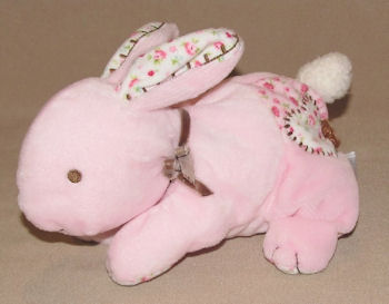 Carter's Small Pink Rabbit with Flower Print Stitched Ears, Feet
