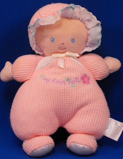 Carter's Prestige Blond Pink Thermal My First Doll with Bonnet